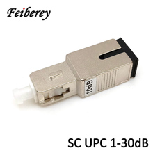 SC UPC Single Mode Optical Attenuator with 2dB 3dB 5dB 7dB 10dB 15dB Fixed Optical Attenuation Female to Male Fiber Attenuator цена