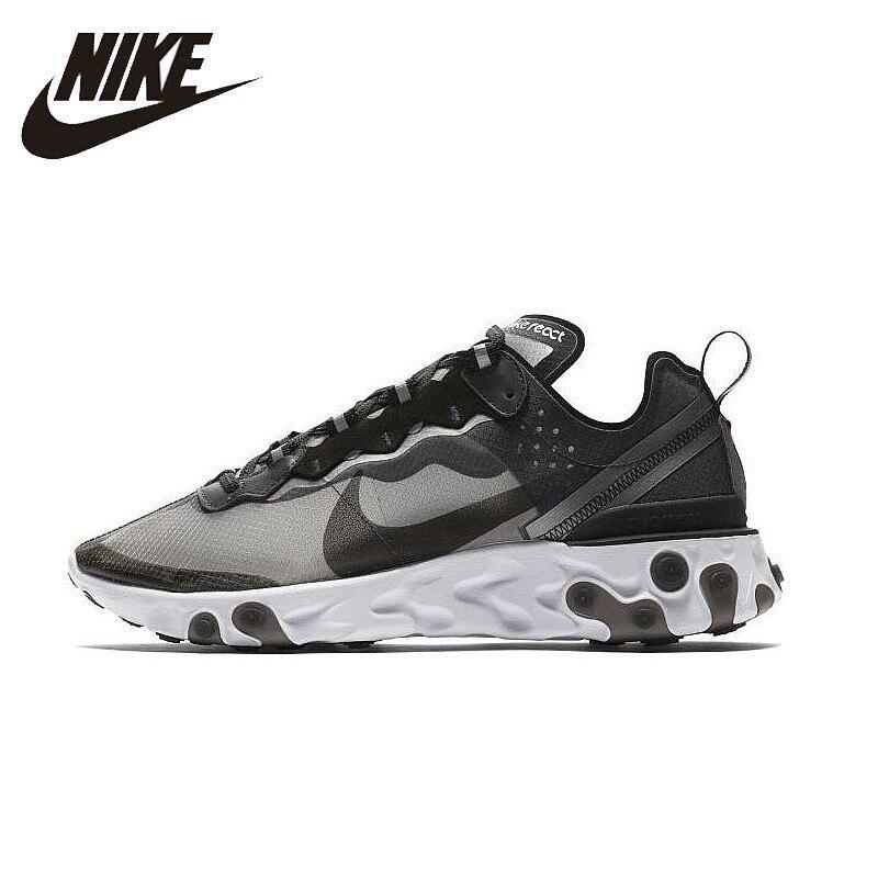 NIKE Réagir Élément 87 Originaux Mens Chaussures de Course Mesh Respirant La Stabilité Soutien Sport Sneakers Pour Hommes Chaussures