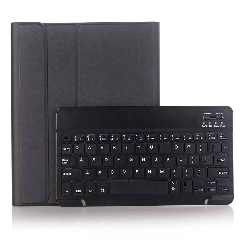Keyboard Case 9.7 For iPad 2018 (6Th Gen), Pad 2017 Ultra-Thin Slim Detachable Protective Cover with Pencil Holder