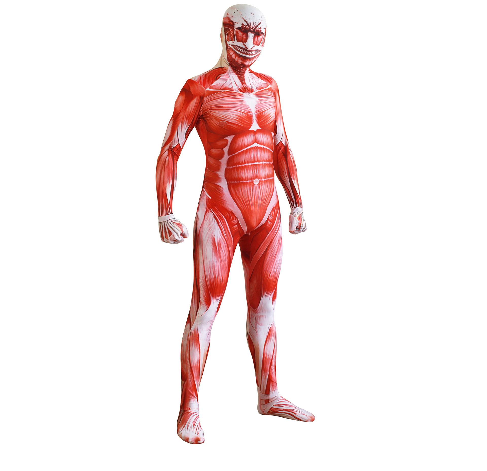 High quality Anime Attack on titan cosplay Shingeki no Kyojin cosplay Colossal Prop Tights Muscle Man halloween Cosplay costumes