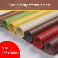 ZYFMPTEX 135x100cm 0.6cm Thick New Arrival Self sticking Pu Leather Lychee Texture Repair Artificial Leather Handmade Materials