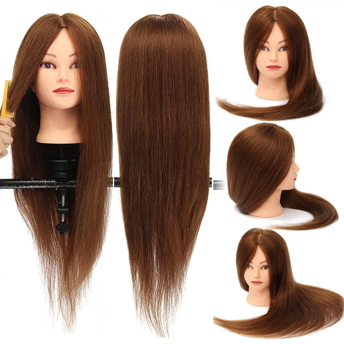 26 Inch 100% Real Human Hair Training Head Hairdresser Hairdressing Mannequin With Clamp Holder Women Lady Mannequin New26 Inch 100% Real Human Hair Training Head Hairdresser Hairdressing Mannequin With Clamp Holder Women Lady Mannequin New