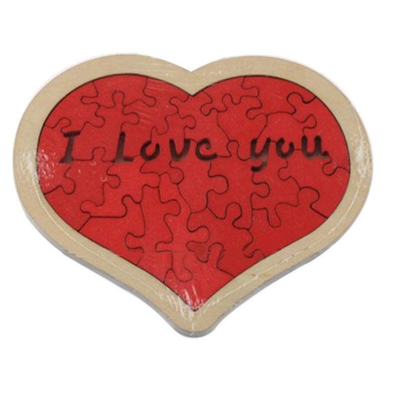 Wooden Love Heart Pattern Jigsaw Puzzle Set Children Development And Education Toys Wood Jigsaw Puzzles For Children Adults