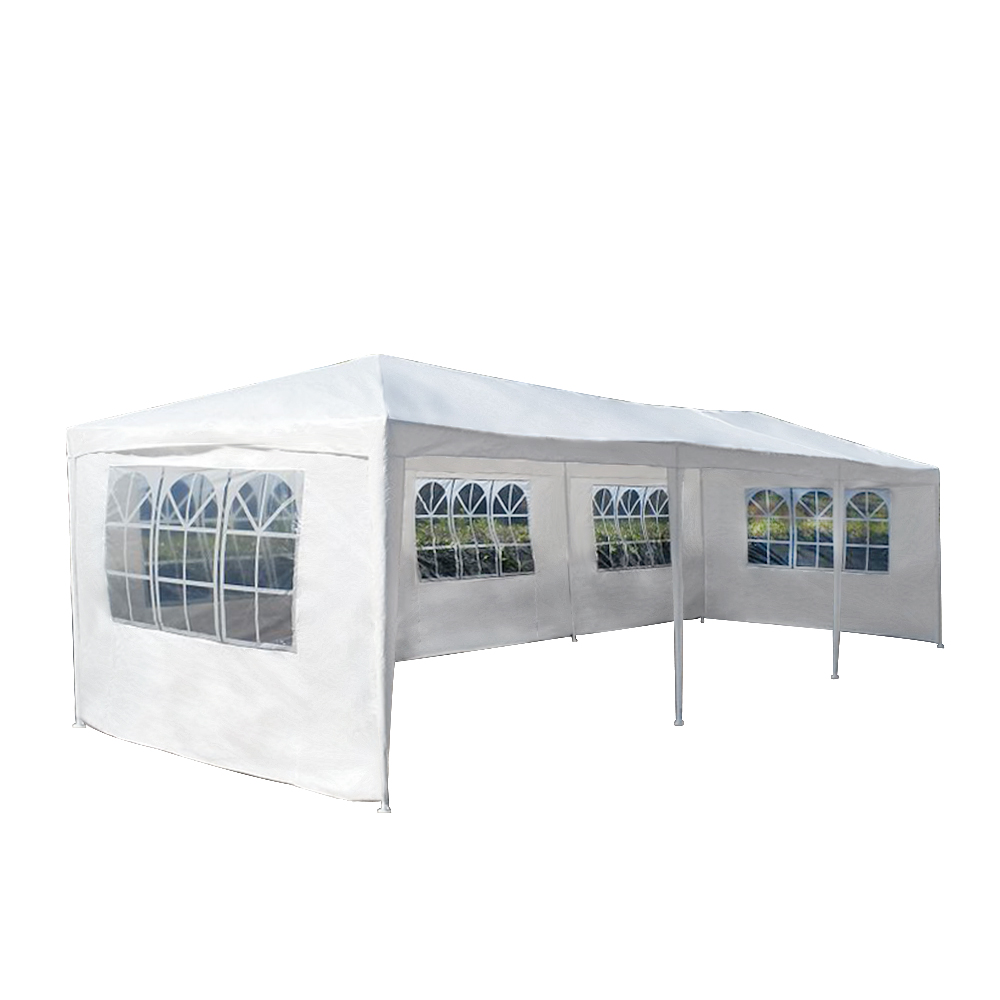 Presale 15% off Large size 3M x 9M Waterproof Outdoor PE Garden Gazebo Canopy Party Wedding Tent Marquee 8 Panels Full Closed