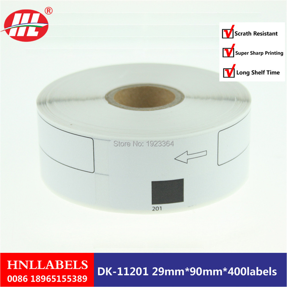 10X Rolls Compatible DK-11201 Label 29mm*90mm Compatible For Brother Label Printer 400Pcs/Roll
