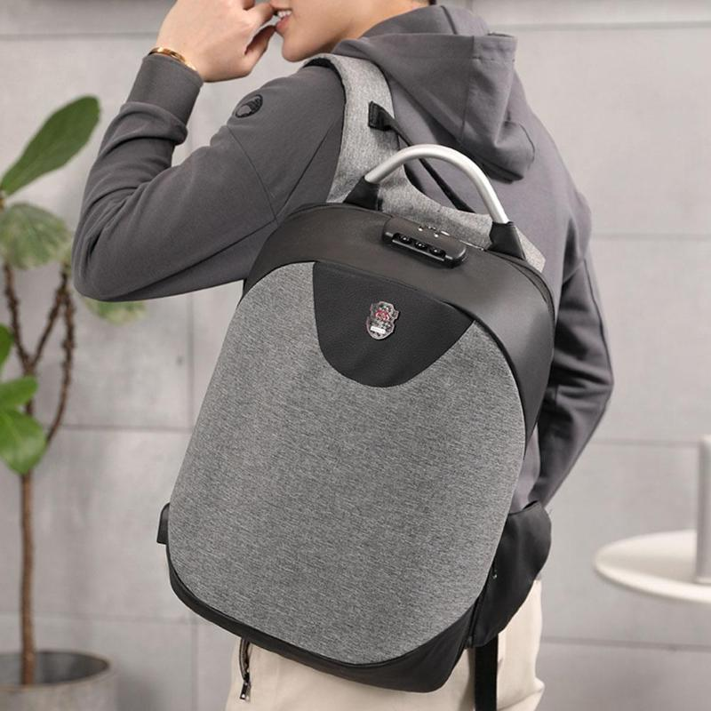 15.6 Inch Laptop Backpack With USB Charging Headphone Interface Port Lock Business Travel Anti-Theft Backpacks