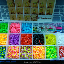 Rubber Bands Loom DIY Weave Box Elastic Bracelet Handicraft Creative Kit Girls Gift Kids Toys for Children 7 8 10 years Teenage
