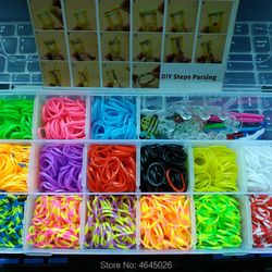 Rubber Bands Loom DIY Weave Box Elastic Bracelet Handicraft Creative Kit Girls Gift Kids Toys for Children 7 8 10 years Teenage