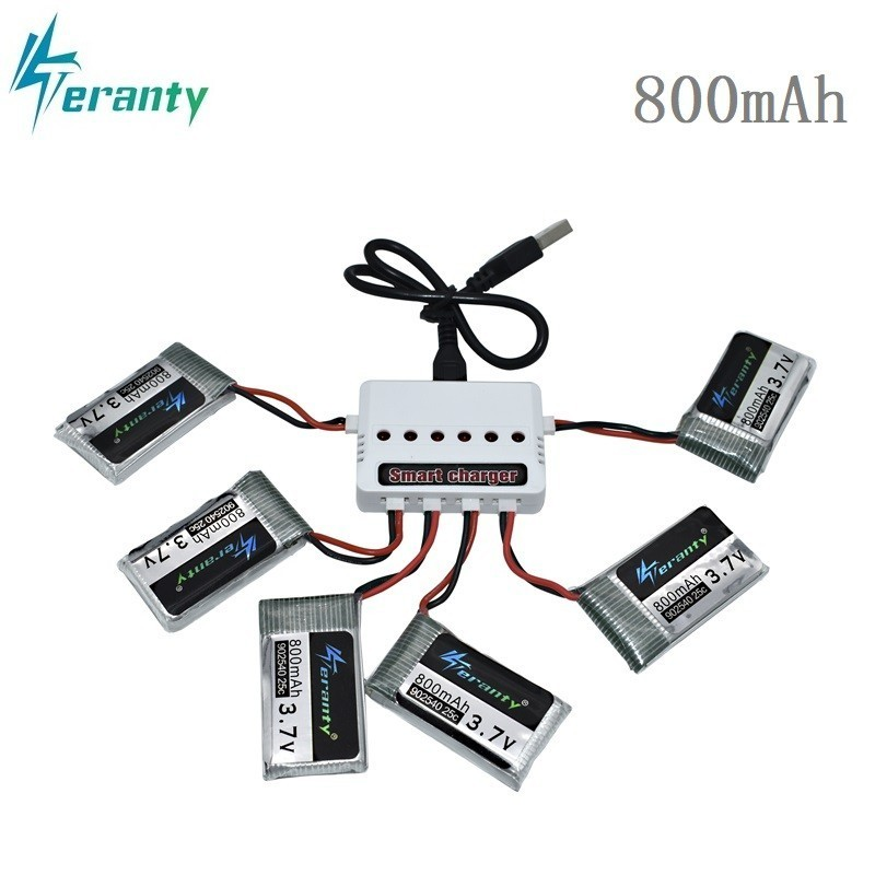 3.7V 800mAh 25c Lipo Battery and USB Charger for Syma X5C X5SC X5SW TK M68 CX-30 K60 V931 RC Quadcopter Drone Spare Part 902540 3.7V 800mAh 25c Lipo Battery and USB Charger for Syma X5C X5SC X5SW TK M68 CX-30 K60 V931 RC Quadcopter Drone Spare Part 902540