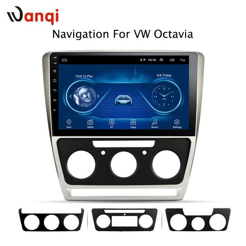 10.1 pouces android 8.1 pour Skoda octavia 2007-2014 système de navigation multimédia de voiture dvd tactile