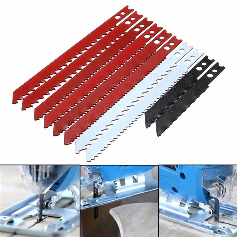 10Pcs Jigsaw Blades Set For Black Decker Jig Saw Metal Plastic Wood Blades 60/97mm Home DIY Hand Tool