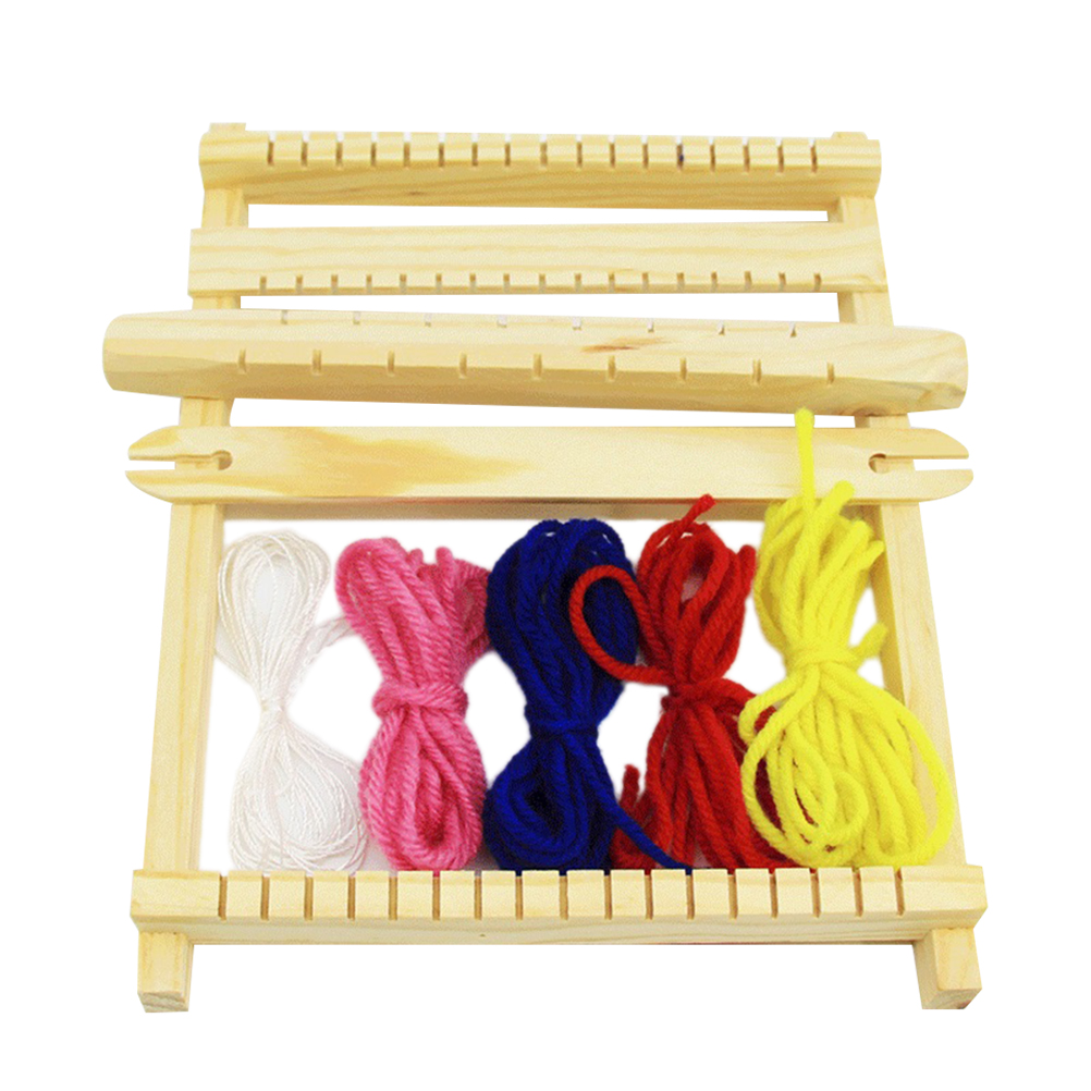 US $7 05 39% OFF|1pc Weaving Tool Handloom Educational Intellectual Hand  Knitting Weaving Machine Loom Toys for Children Kids-in Wood DIY Crafts  from