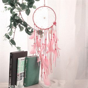 Pink Pearl Dreamcatcher Fashion Gift India Handmade Wind Chimes Hanging Pendant Dream Catcher Home Wall Art Decorations