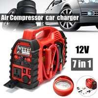 7 в 1/6 в 1 12 V multifunation воздушный компрессор, воздушный компрессор автомобильный Зарядное устройство Батарея пусковое устройство Портативный