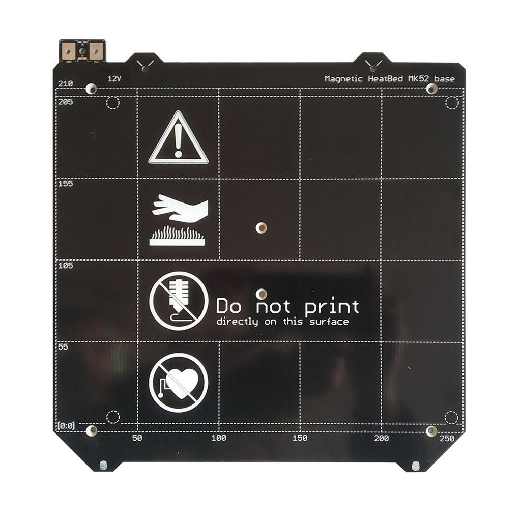 PPYY NEW-3D pièces d'imprimante Clone I3 Mk3 3D imprimante lit chauffant magnétique Mk52 lit chauffant 24 V/12 V