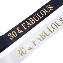 30&Fabulous Sash - 30th Birthday Belt Gift Party Supplies Decorations Decoration
