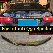 Q50 Spoiler Wing Tail AEM4 Style Carbon Fiber For Infiniti Q50S Rear Trunk Lid 2015-in