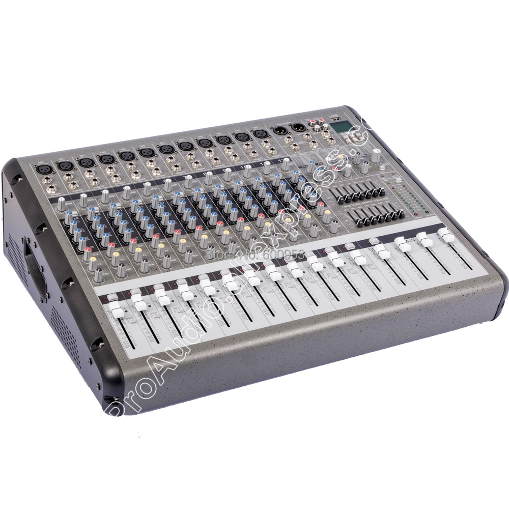 Pro 8 Canal 4000 W Amplificateur Haute Puissance Console de Mixage Mixer USB Deux dans une fonction MICWL PRM0860 Lecteur double 15 pouces Haut-Parleur