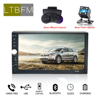 LTBFM 7 inch Car Radio Auto Radio 2 Din Touch Screen Multimedia Car Audio Player Car Stereo Radio MP5 Bluetooth Rearview Camera