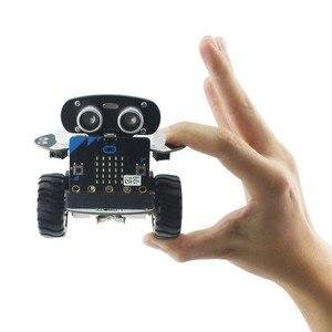 Image 3 - Microbit Robot Kit Programmable Qbit Robot Rc Car App Control Web Graphic Program With Microbit