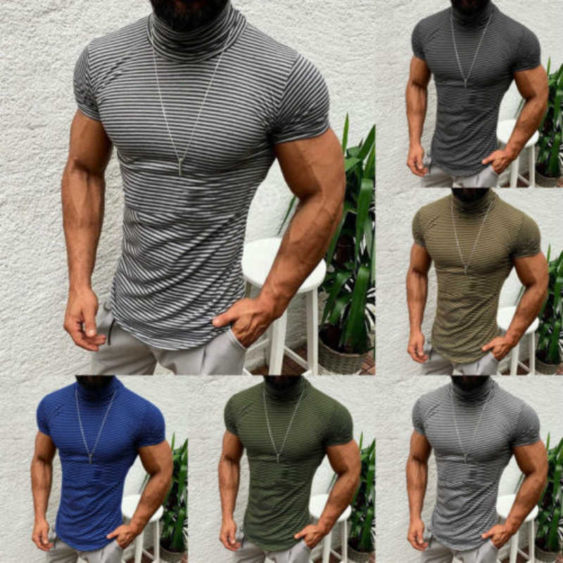 New Men S Slim Fit O Neck Short Sleeve Zipper Muscle Tee T Shirt Men Fashion Casual Tops T Shirts Hot M 3xl T Shirts Aliexpress