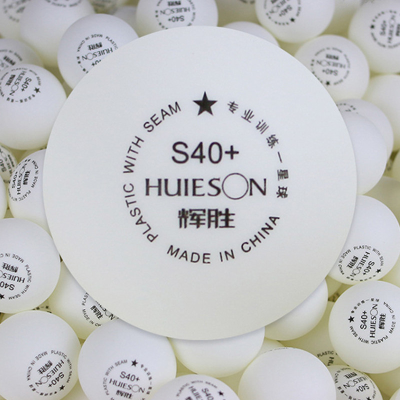 HUIESON 50pcs/Bag 1 Star S40+mm ABS Plastic Table Tennis Balls 40+mm 2.7g Ping Pong Balls For Teenagers Club Training