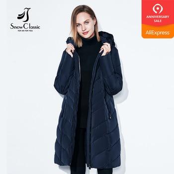 SnowClassic Winter Jacket Women Thick Coats Big Size 6xl Female Warm Parka Soft Long Jackets New Retro