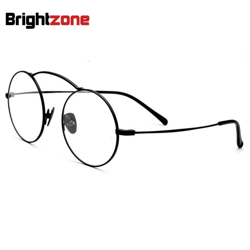 Léger Style complet IP galvanoplastie B pur titane lunettes de vue Grade cadre rond Gl hommes lunettes cadres Itao Optica