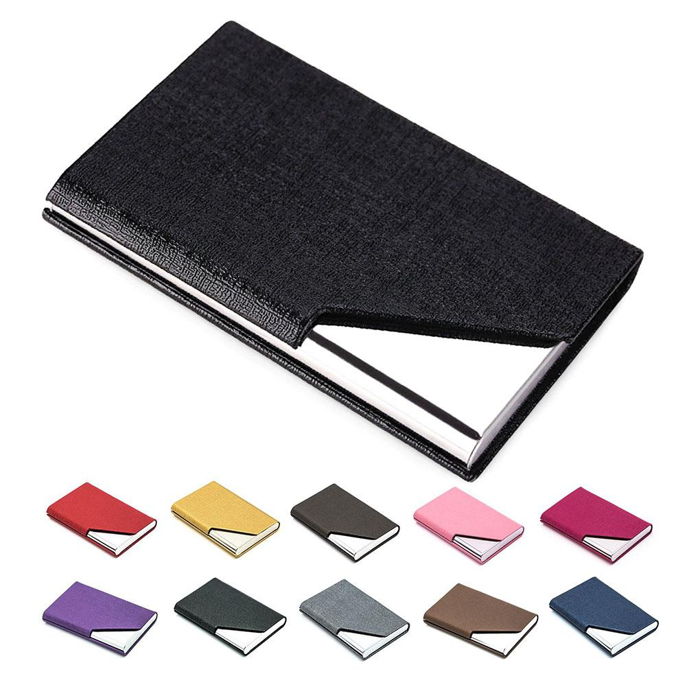 Lightweight Stainless Steel Business Card Holder Box For Storage