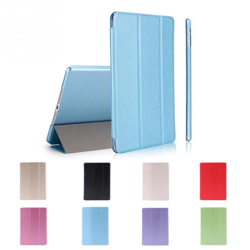 Luxury Smart Wake Up Leather Case Cover For iPad 6/Air 2 Slim Smart Magnetic Clamshell Leather Case Cover 8 Colors to Choose