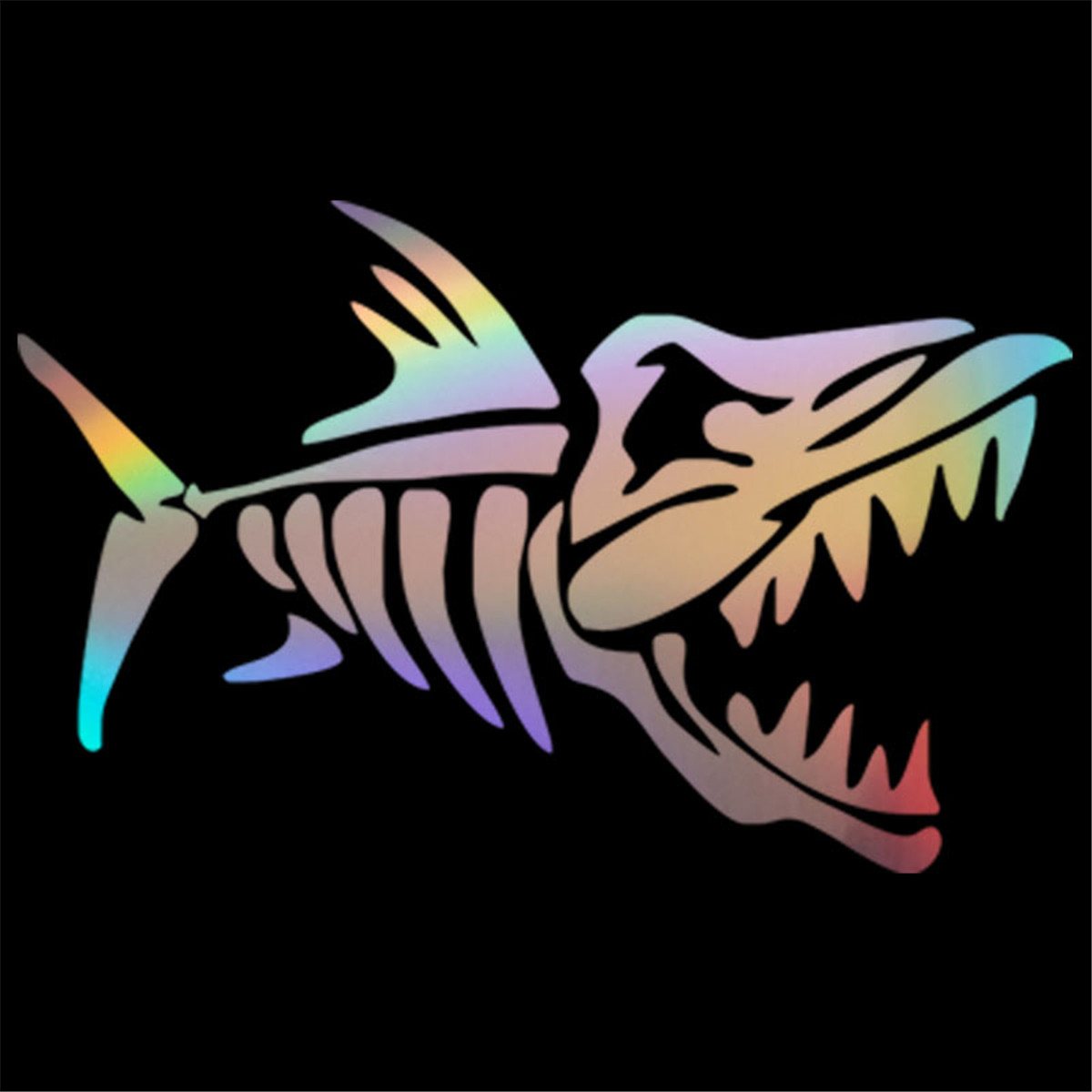 Shark Bone Sticker Car Auto Laptop Fishing Boat Truck Window Truck  Vinyl Decal