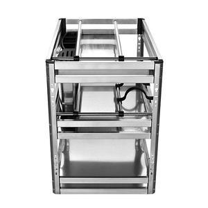 Image 2 - Accessories Organizer Mutfak Malzemeleri Stainless Steel Cuisine Cocina Cozinha Kitchen Cabinet Cestas Para Organizar Basket