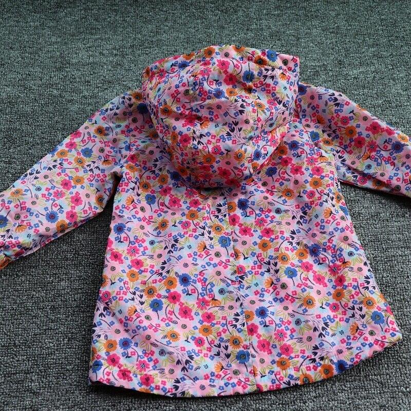 Children/kids/girls Classic Ditsy Floral Jacket, Pink Jacket, Hood Jacket W Fleece Lining (9M To 5Y)