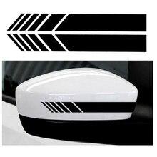 1 par/2 pçs estilo do carro auto estilo do carro auto gráfico carro adesivo espelho retrovisor lateral decalque listra diy decalques do corpo do carro