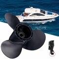 58100-96430-019 In Lega di Alluminio 10 1/4x12 Barca Fuoribordo Elica Per Suzuki 20-30HP 10 Spline Dente 3 lame R Rotazione