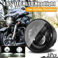 4.65 Pair Headlights LED Head light Lamp With DRL For Harley Dyna Fat Bob FXDF 2008 2016 For Harley Dyna Light Lamp