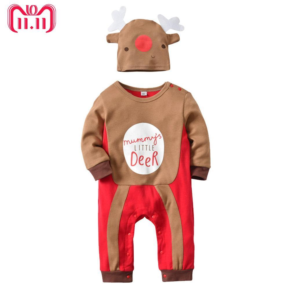 2018 <font><b>christmas</b></font> deer <font><b>baby</b></font> boy <font><b>girl</b></font> <font><b>clothes</b></font>,soft <font><b>fleece</b></font> kids one pieces Jumpsuits Pajamas 0-18M infant <font><b>girl</b></font> boys <font><b>baby</b></font> costumes image