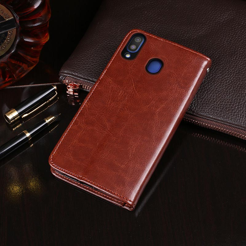 For Samsung M20 Case Flip Wallet Business PU Leather Coque Phone Case for Samsung Galaxy M20 Cover Back Fundas Accessories in Flip Cases from Cellphones Telecommunications