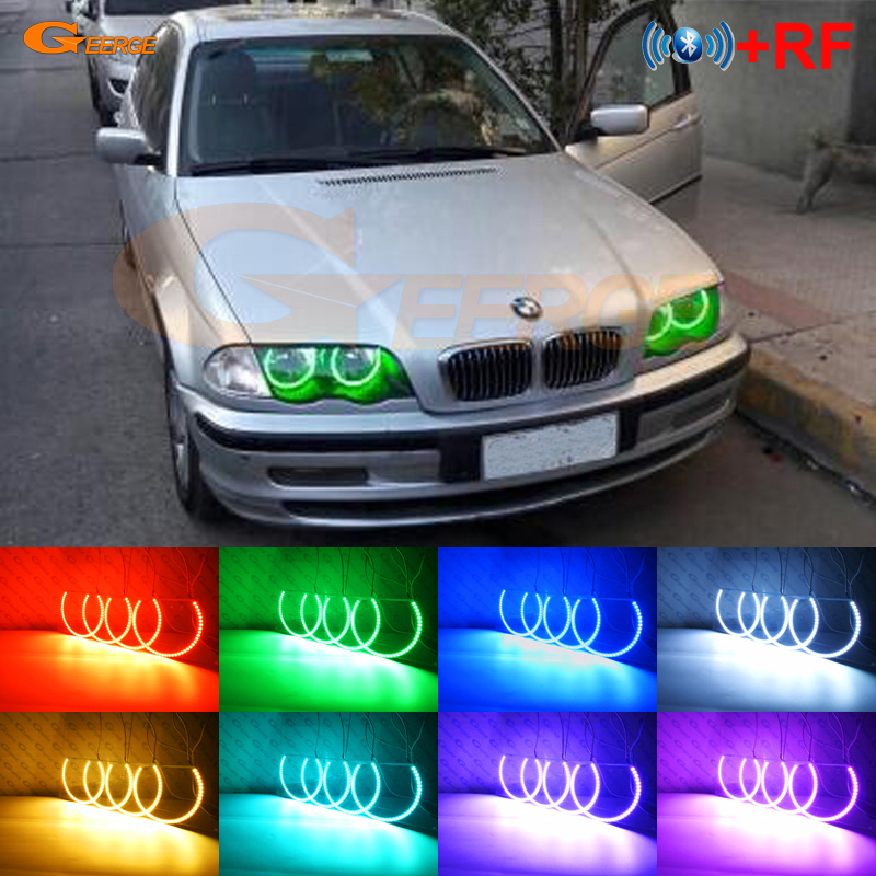 For BMW E46 3er Pre facelift 1998 2001 Excellent RF Bluetooth Controller Multi Color Ultra bright