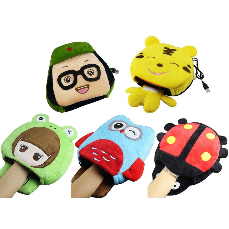 Computer & Office Warm Hand Mouse Pad Soft Plush Cartoon Warm Hand Heating Mouse Pad Usb Computer Port Mouse Pad With Wristband
