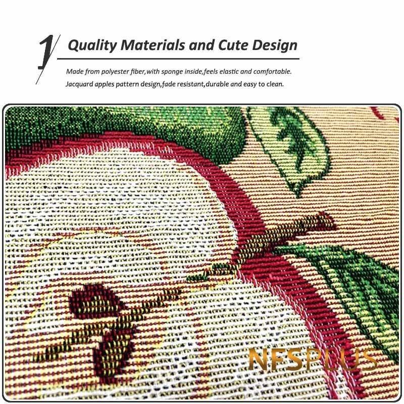 Image 3 - Jacquard Apples Designed Kitchen Floor Mat Cotton Polyester Non Slip Doormat Rugs Front Door Mat Home Decorative Bathroom Carpet-in Mat from Home & Garden