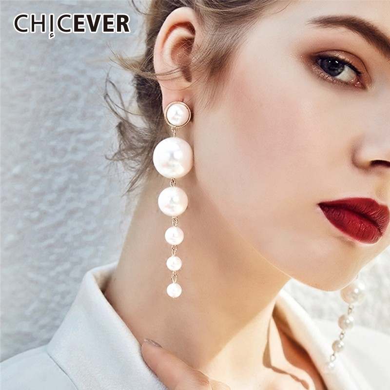 CHICEVER 2019 Fashion Earmuffs For Women With Jewelry Pearl Stud Earrings Accessories Party Earrings Female New