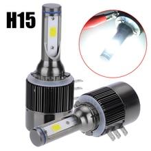 1 Pair H15 110W 26000LM COB LED Car Headlight 6000K Bulb 9V-32V Conversion Driving Light For Audi Benz