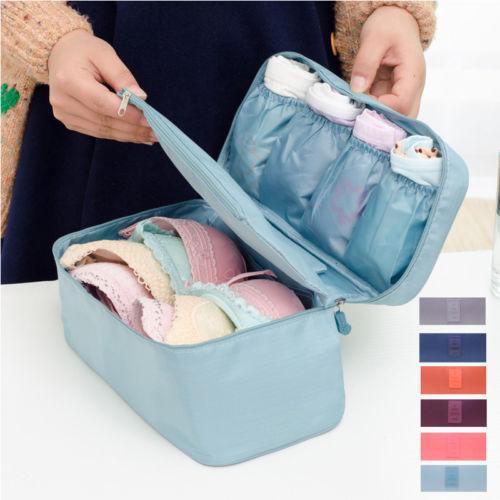 Women Girl Travel Cosmetic Makeup Toiletry Wash Storage Case Underwear Bra Bag
