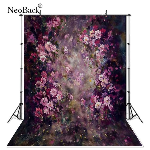 Thin Vinyl Newborn Baby Spring Purple Floral Photography Backdrop fantasy floral Customs Photo Studio Photo Backgrounds Prop