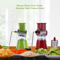 New Arrival Manual Rotary Drum Grater Stainless Steel Cheese Grater Vegetables Cutter Slicer Shredder Kitchen Tools