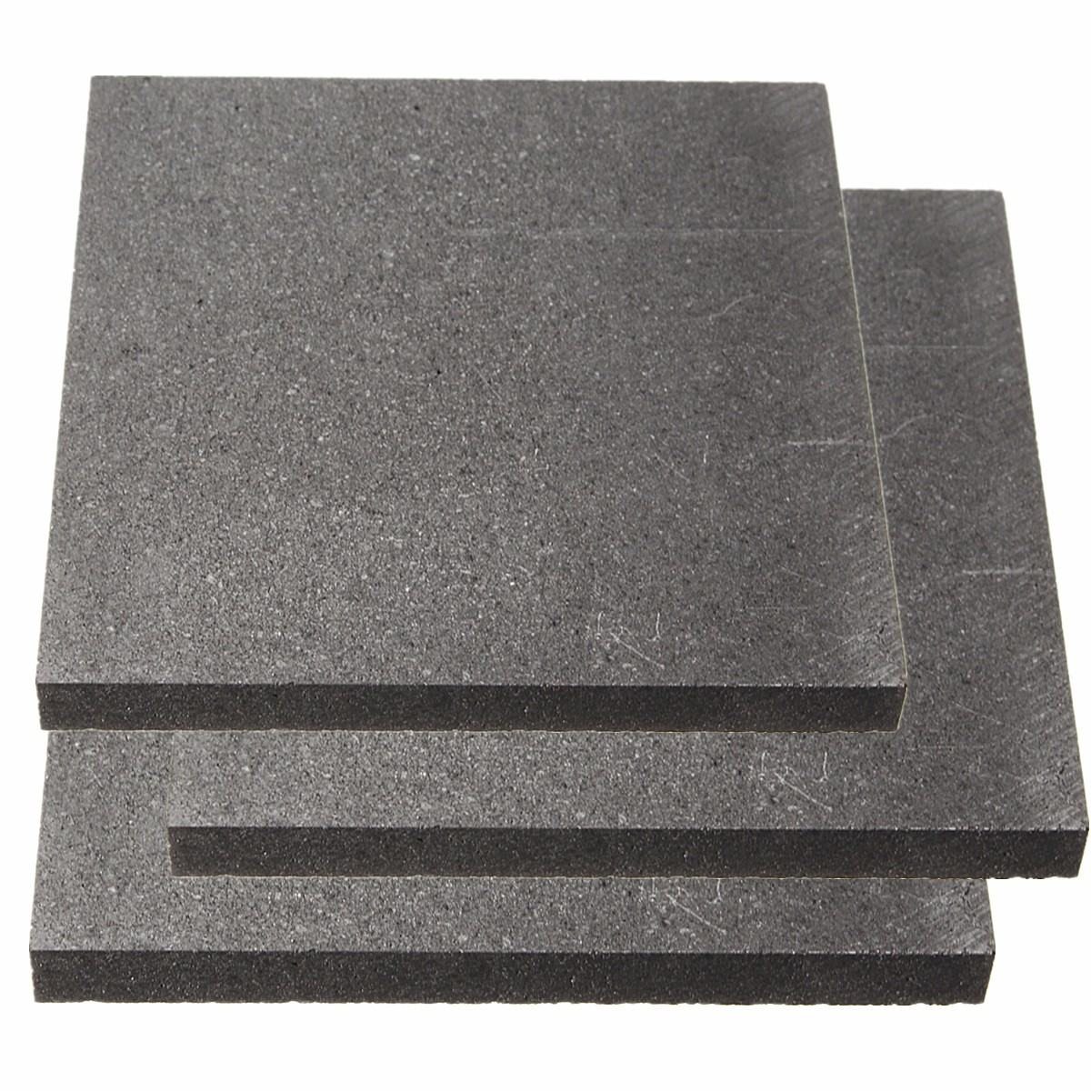 100x100x10mm High Purity 99.9% Graphite Block Electrode Rectangle Plate Blank Sheet
