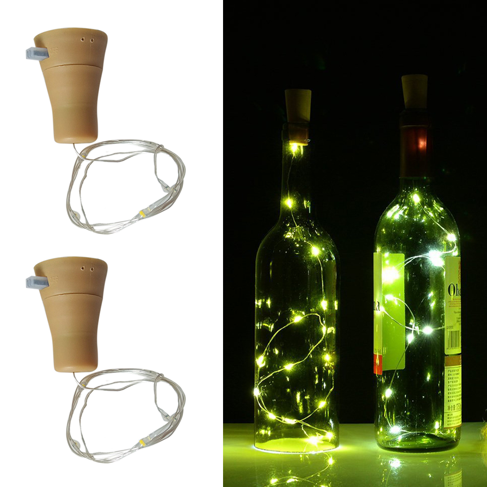 Festive & Party Supplies Event & Party New 6pcs Party 10led Solar Powered Wine Bottle Cork Shaped Led Copper Wire String Lights Christmas Fairy Light Party Decoration Durable Modeling