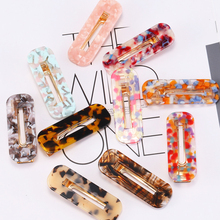 Sale Acetic Acid Geometric Fashion Women Hair Clips Hairgrips Leopard Hairpins Rectangle Barrettes Girls Accessories