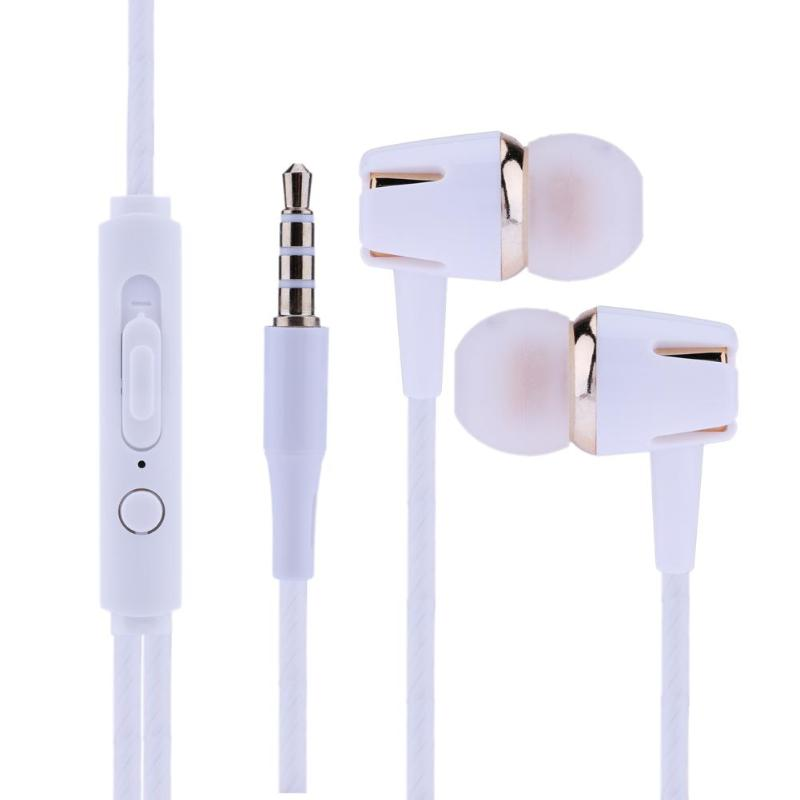 Universal Plating In-ear Stereo Earphone Headphone Headset For IOS Android with Microphone 120cm/3.94ft universal in-ear ear